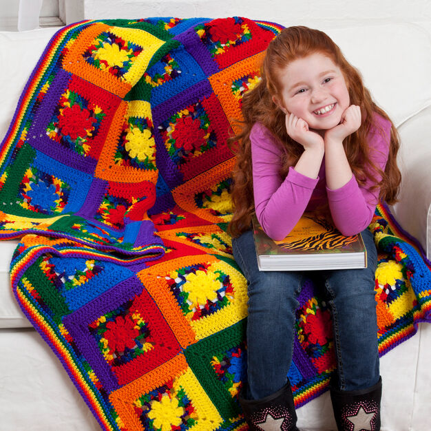 Red Heart Kids Cabin Throw in color