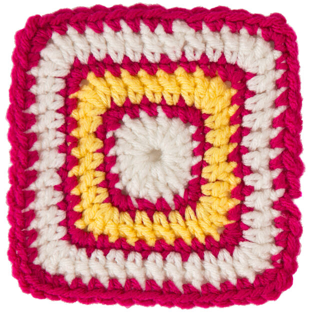 Red Heart Square B for Bright Eyes Baby Blanket in color