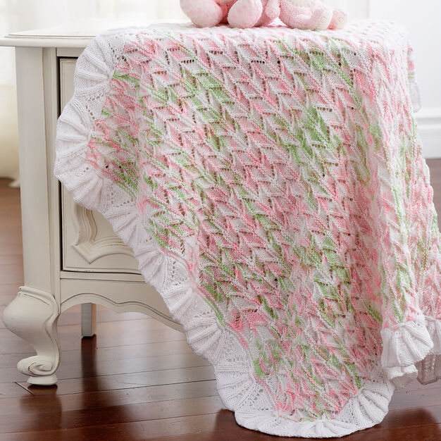 Bernat Lacy Blanket to Knit in color