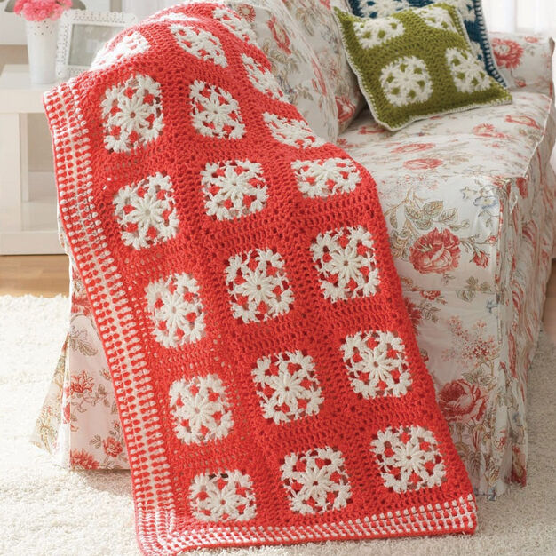 Patons Filigree Motifs Set, Blanket