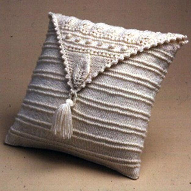 Patons Aran Leaf Pillow
