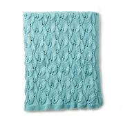 Caron Leafy Green Knit Afghan
