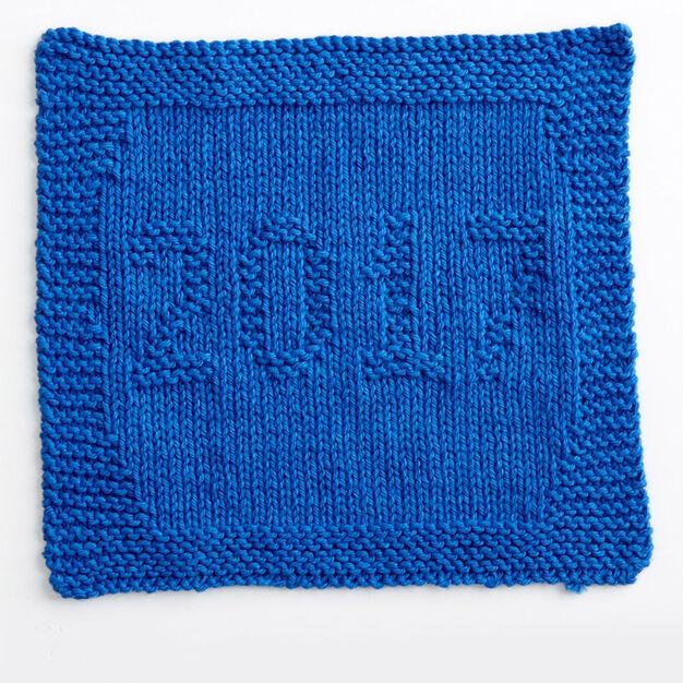 Lily Sugarn Cream 2017 Knit Dishcloth Yarnspirations