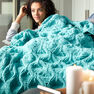 Bernat Diamond in the Rough Knit Blanket