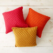 Patons Bobble-licious Crochet Pillows, Tangy