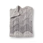 Go to Product: Bernat Lacy Chevrons Knit Baby Blanket in color