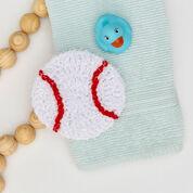 Red Heart Crochet Baseball Scrubby