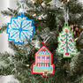 Anchor Stitched Felt Ornaments in color