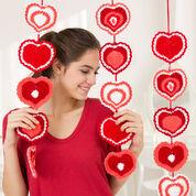 Red Heart Heart Strings Garland