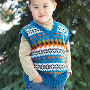 Go to Product: Patons Child's V-Neck Fair Isle Vest, 2 yrs in color
