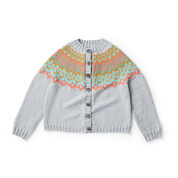 Go to Product: Patons Stranded and Steeked Knit Cardigan, XS/S in color