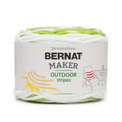 Go to Product: Bernat Maker Outdoor Stripes Yarn, Fresh Citrus Stripe - Clearance Shades* in color Fresh Citrus Stripe