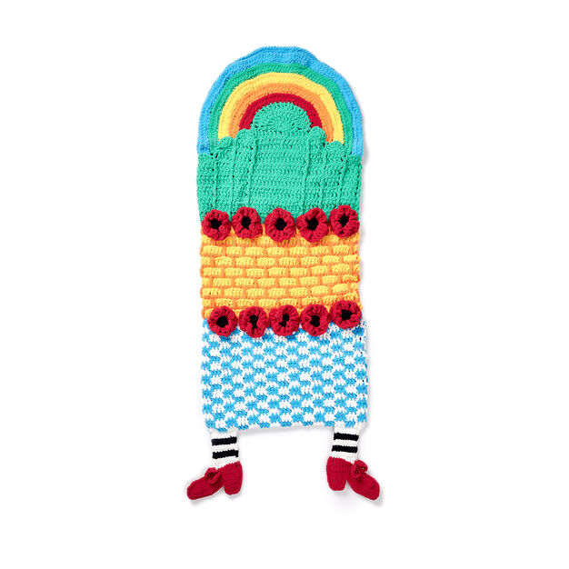 Bernat Somewhere Over The Rainbow Crochet Snuggle Sack Pattern