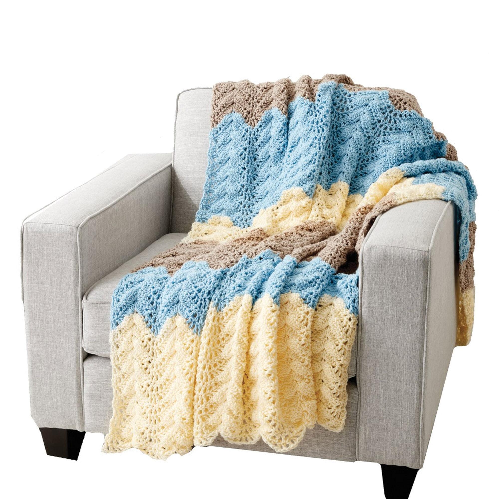 Caron Seaside Ripple Crochet Afghan | Yarnspirations