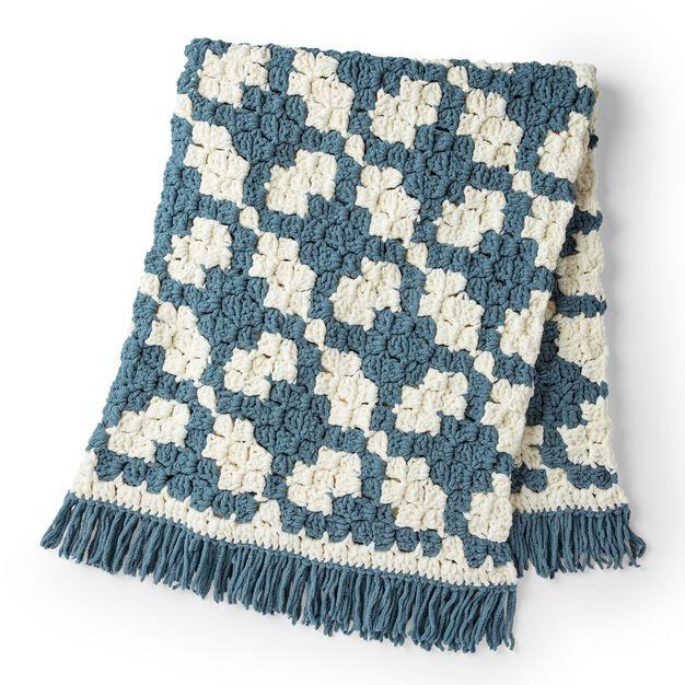 Bernat C2C Crochet Lattice Blanket in color