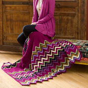 Red Heart Berry Zig-Zag Throw