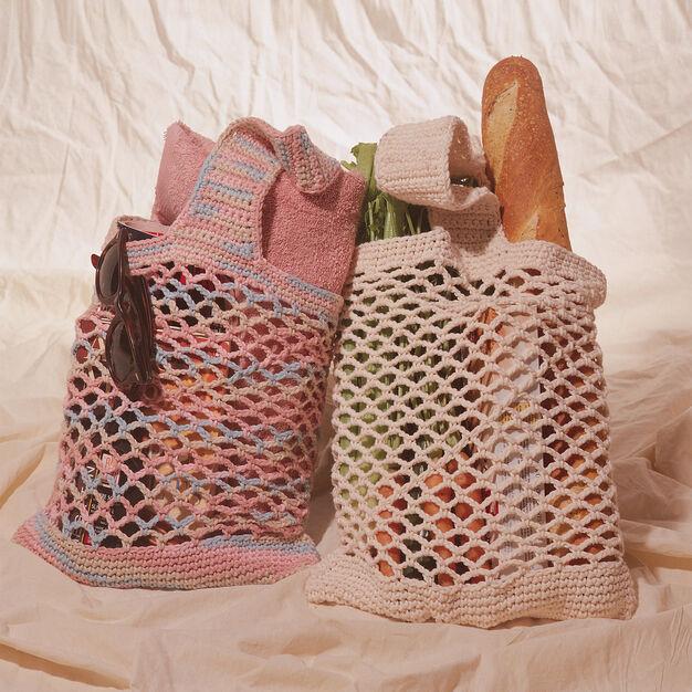 Lily Sugarn Cream Market Bag Solid Yarnspirations