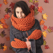 Go to Product: Bernat Chill-Chaser Set, Mittens & Cowl in color