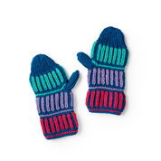 Go to Product: Red Heart Warm Brioche Knit Mittens, Child in color