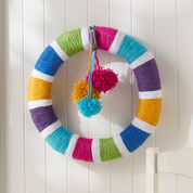 Red Heart Rainbow of Colors Wreath