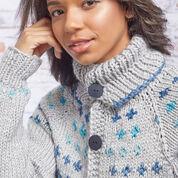Red Heart Fair Isle Sweater Coat, XS