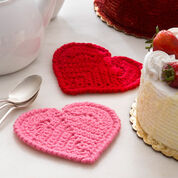 Red Heart Valentine Heart Coaster