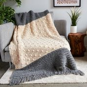 Go to Product: Bernat Crochet Bobble Pop Blanket and Pillow in color