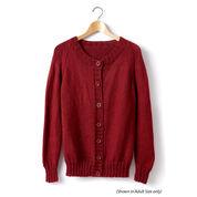 Caron Child's Knit Crew Neck Cardigan, Size 2