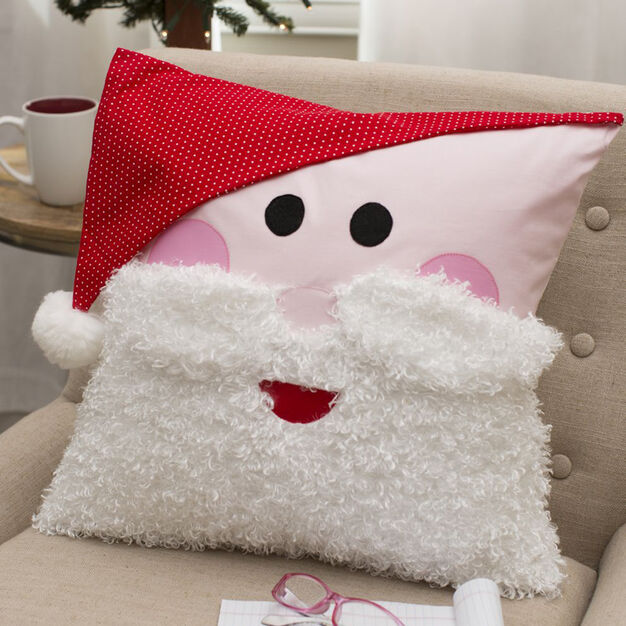 Dual Duty Ho, Ho, Ho Santa Pillow in color
