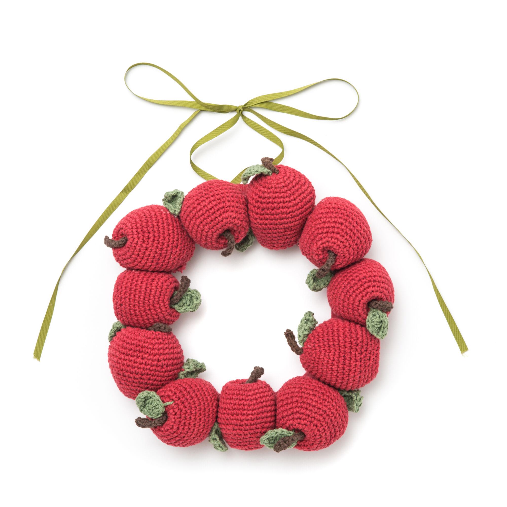 Lily Sugar\'n Cream Apple Wreath | Yarnspirations