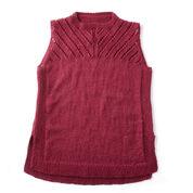 Patons Sleeveless Knit Shell, XS/S