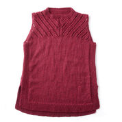 Patons Sleeveless Knit Shell, XS/S