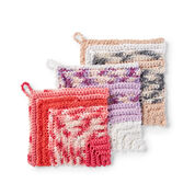 Lily Sugar'n Cream Scrubbing Miter Crochet Dishcloth