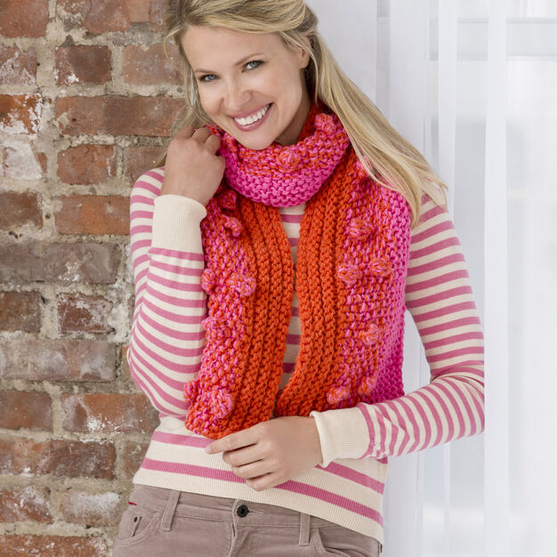 Red Heart Fashion Bobble Scarf in color