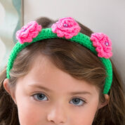 Red Heart Flower Top Headband