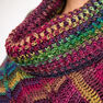 Red Heart Marly's Perfect Dramatic Cowl Poncho, S/M in color  Thumbnail Main Image 5}