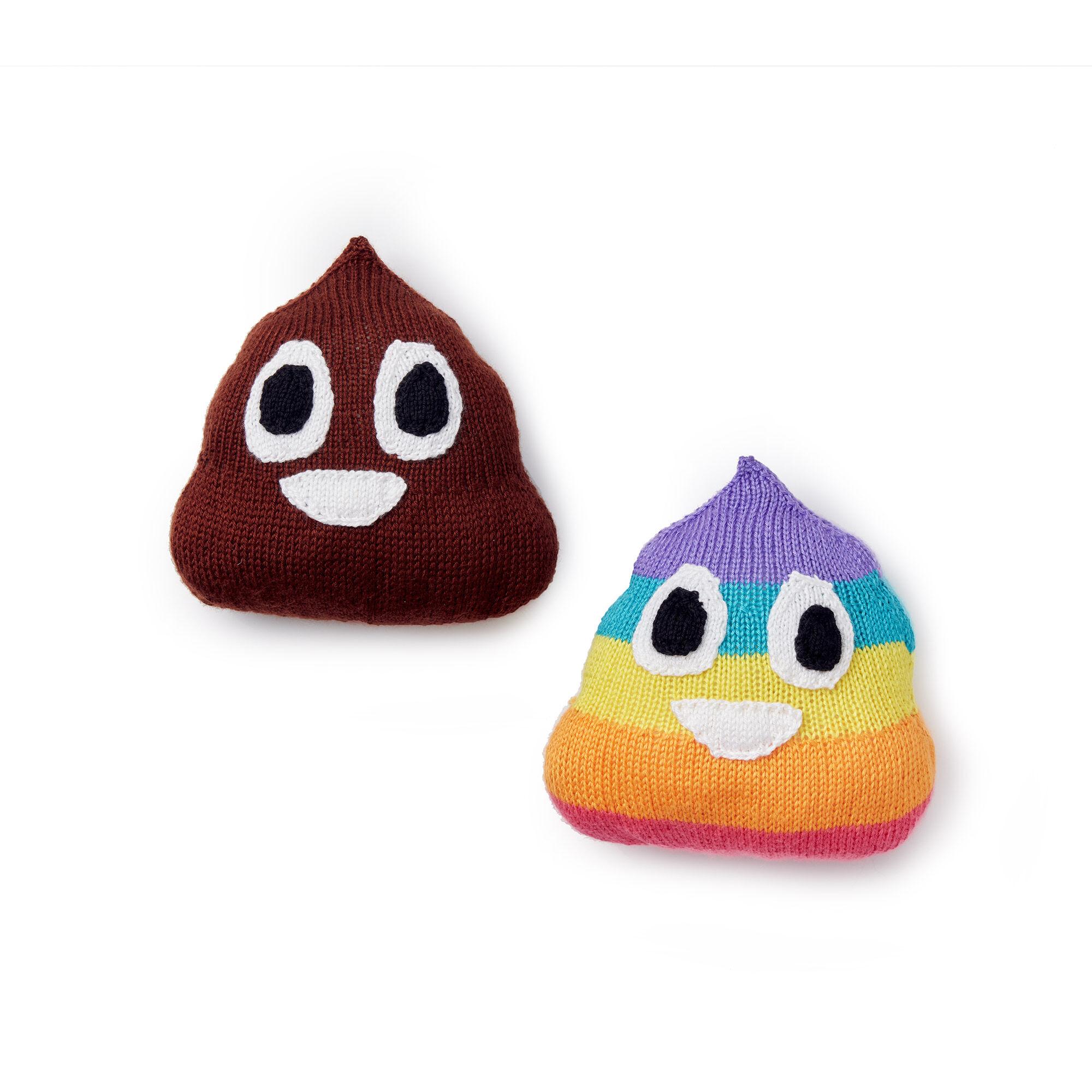 Caron Poop Emoji Knit Pillows, Version 1 Pattern | Yarnspirations
