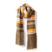 Patons Moss Stripe Knit Super Scarf