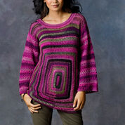 Red Heart Square Deal Sweater, S