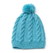 Go to Product: Red Heart Cabled Pompom Hat, S in color