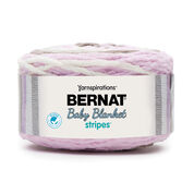 Go to Product: Bernat Baby Blanket Stripes Yarn, Rosebud in color Rosebud