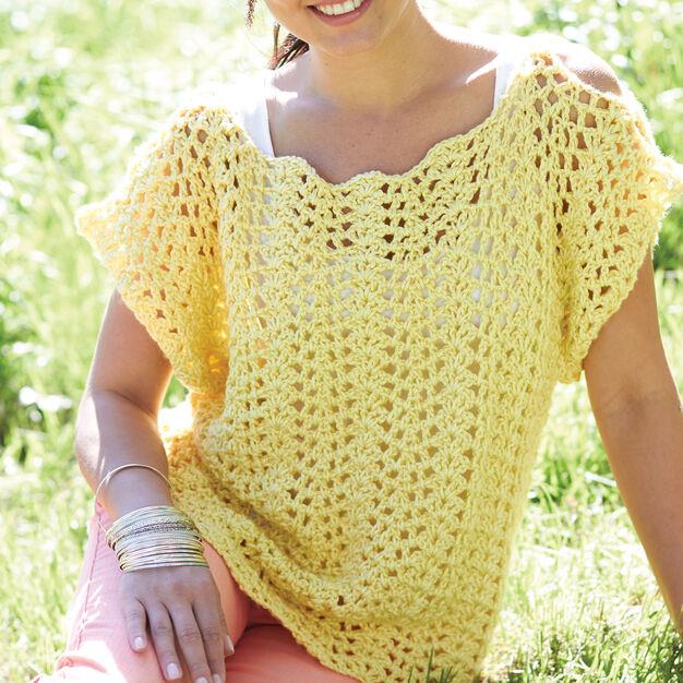 Caron Crochet Scalloped Top S Yarnspirations