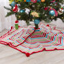 Red Heart Pompom Trimmed Tree Skirt in color  Thumbnail Main Image 3}