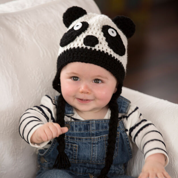Red Heart Panda Baby Hat, S in color