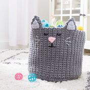 Red Heart Kitty Toy Basket