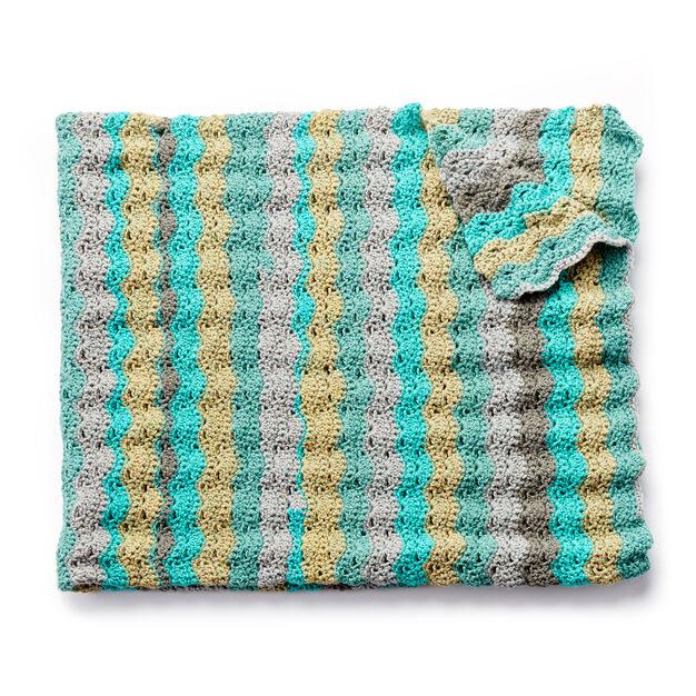 Caron Wavy Crochet Afghan Pattern | Yarnspirations | Yarnspirations