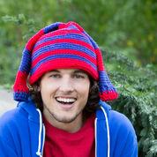 Red Heart Hockey Fan Crochet Hat, S