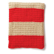 Caron Easy Breezy Knit Blanket, Version 1