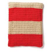 Caron Easy Breezy Knit Blanket, Version 1