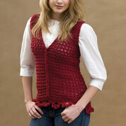 Go to Product: Red Heart Crochet Loop-Cable Vest, S in color